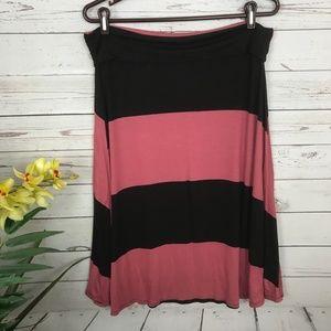 LuLaRoe Skirts - Lularoe Pink and Black Striped Azure Skirt -X3